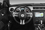 Steering wheel view of a 2013 Ford Mustang V6 Premium CV