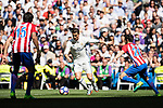 Cristiano Ronaldo of Real Madrid in action during their La Liga match between Real Madrid and Atletico de Madrid at the Santiago Bernabeu Stadium on 08 April 2017 in Madrid, Spain. Photo by Diego Gonzalez Souto / Power Sport Images