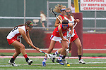 Redondo Beach, CA 05/14/11 - unidentified Redondo Union player and unidentified Los Alamitos playerin action during the 2011 US Lacrosse / CIF Southern Section Division 1 Girls Varsity Lacrosse Championship, Los Alamitos defeated Redondo Union 17-5.