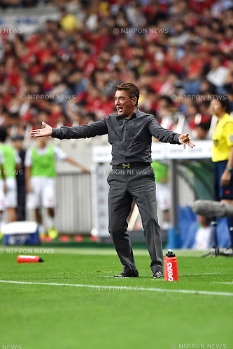 Mihailo Petrovic (Reds),<br /> AUGUST 16, 2014 - Football / Soccer :<br /> Urawa Reds head coach Mihailo Petrovic during the 2014 J.League Division 1 match between Urawa Red Diamonds 1-0 Sanfrecce Hiroshima at Saitama Stadium 2002 in Saitama, Japan. (Photo by AFLO)