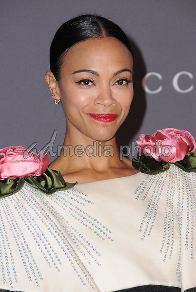 04 November  2017 - Los Angeles, California - Zoe Saldana. 2017 LACMA Art+Film Gala held at LACMA in Los Angeles. Photo Credit: Birdie Thompson/AdMedia