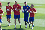 Gerard Pique, David de Gea and Jordi Alba during training of the spanish national football team in the city of football of Las Rozas in Madrid, Spain. August 30, 2017. (ALTERPHOTOS/Rodrigo Jimenez)