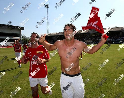 2008-05-11 / Voetbal / R. Antwerp FC - Lierse SK / Luciano Olguin viert..Foto: Maarten Straetemans (SMB)