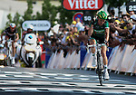 2012 Tour De France Stage 10 Macon Bellegarde-sur-Valserine 11th. Thomas Voeckler (FRA) Europcar on 11/07/2012 in Bellegarde-sur-Valserine, France. .. © Pierre Teyssot