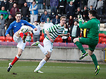 Ryan Hardie chips the keeper Jordan Hart but fails to score this time