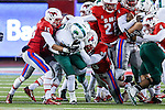 Tulane Green Wave running back Sherman Badie (3) in action during the game between the Tulane Green Wave and the SMU Mustangs at the Gerald J. Ford Stadium in Dallas, Texas.