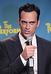 """Actor Cheyenne Jackson attends press event to introduce the cast and creators of the new Broadway play """"The Performers""""at the Hard Rock Cafe on Tuesday, Sept. 25, 2012 in New York."""