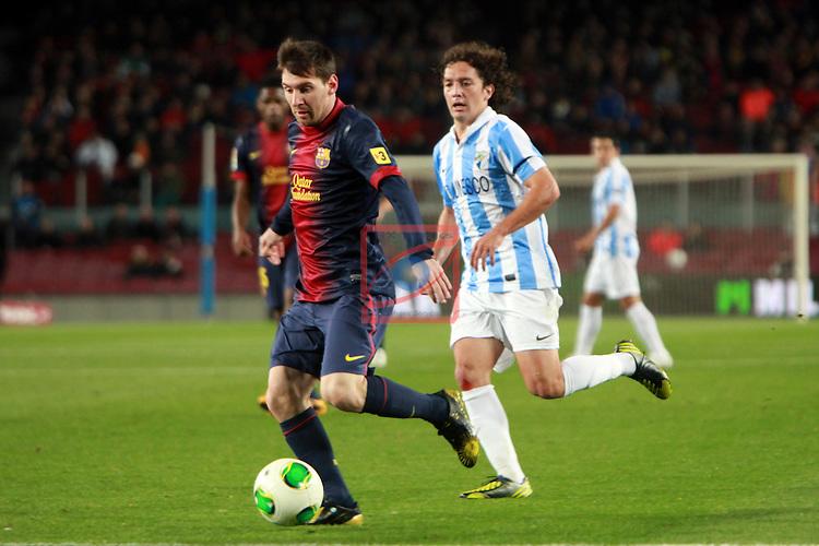 Lionel Messi. FC Barcelona vs Malaga CF: 2-2
