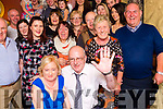 BIRTHDAY SURPRISE: Julie Moriarty, Lohercannon pictured with her husband Ger and family and friends at her surprise 60th birthday celebration in Betty's Bar on Saturday night last