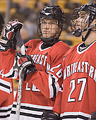 Joe Vitale, Josh Robertson - The Boston College Eagles defeated the Northeastern University Huskies 5-2 in the opening game of the 2006 Beanpot at TD Banknorth Garden in Boston, MA, on February 6, 2006.