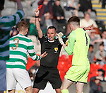 30.04.18 Glasgow Cup Final Rangers v Celtic : Ref Alastair Grieve sends off Brody Paterson