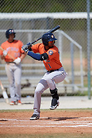 Houston Astros Carlos Machado (1) during a Minor League Spring Training game against the St. Louis Cardinals on March 27, 2018 at the Roger Dean Stadium Complex in Jupiter, Florida.  (Mike Janes/Four Seam Images)