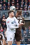 Tim Kister (Nr.14, SV Sandhausen) im Duell um den Ball mit Daniel Buballa (Nr.15, FC St. Pauli) beim Spiel in der 2. Bundesliga, SV Sandhausen - FC St. Pauli.<br /> <br /> Foto © PIX-Sportfotos *** Foto ist honorarpflichtig! *** Auf Anfrage in hoeherer Qualitaet/Aufloesung. Belegexemplar erbeten. Veroeffentlichung ausschliesslich fuer journalistisch-publizistische Zwecke. For editorial use only. For editorial use only. DFL regulations prohibit any use of photographs as image sequences and/or quasi-video.