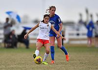 Lakewood Ranch, FL - December 12, 2019: Girls U.S. Soccer Development Academy - Winter Showcase on Thursday, December 12, 2019, at Premier Sports Campus in Lakewood Ranch, FL.