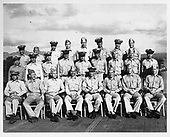 Ann Arbor, MI - FILE --  Gunnery Officers on board the USS MONTEREY (Ford is in the from row, second from the right).<br /> Date: October 24, 1943.<br /> Credit: Courtesy Gerald R. Ford Library via CNP