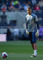Brandon Austin warms up before the Premier League match between Tottenham Hotspur and Crystal Palace at Wembley Stadium, London, England on 14 September 2019. Photo by Vince  Mignott / PRiME Media Images.