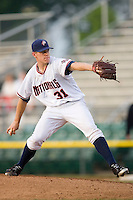 Potomac Nationals starting pitcher Jeff Mandel #31 in action versus the Winston-Salem Dash at Pfitzner Stadium June 11, 2009 in Woodbridge, Virginia. (Photo by Brian Westerholt / Four Seam Images)