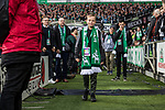 02.11.2019, wohninvest WESERSTADION, Bremen, GER, 1.FBL, Werder Bremen vs SC Freiburg<br /> <br /> DFL REGULATIONS PROHIBIT ANY USE OF PHOTOGRAPHS AS IMAGE SEQUENCES AND/OR QUASI-VIDEO.<br /> <br /> im Bild / picture shows<br /> Joe Bryant (Erbauer des Weserstadion-Models aus Lego-Steinen) zu Gast im Stadion, <br /> <br /> Foto © nordphoto / Ewert