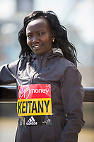LONDON, ENGLAND 19 APRIL, Mary Keitany attends Virgin Money London Marathon Elite Women's photocall at Westminster, London UK 19th April 2017<br /> CAP/PP/GM<br /> &copy;GM/PP/Capital Pictures