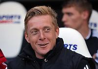 Pictured: Swansea head coach Garry Monk. Saturday 19 April 2014<br /> Re: Barclay's Premier League, Newcastle United v Swansea City FC at St James Park, Newcastle, UK.