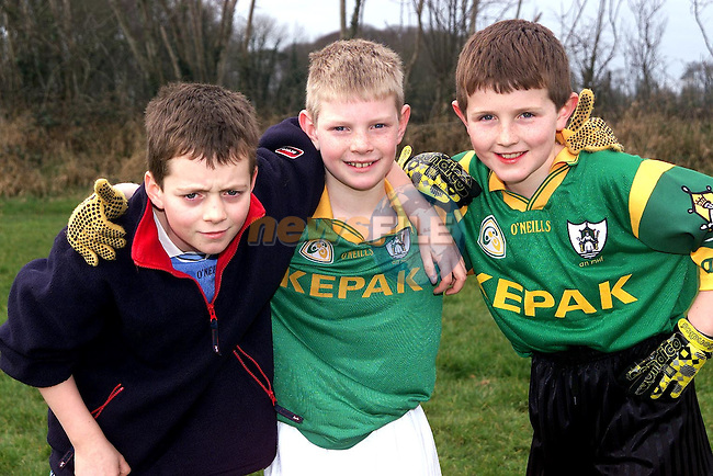 Stephen O'Neill, Eastham Village, Francis McCluskey, Mornington and Conor Lynch, Five Oaks at St. Colmcilles Juvenille Club coaching in Piltown..Picture Paul Mohan Newsfile