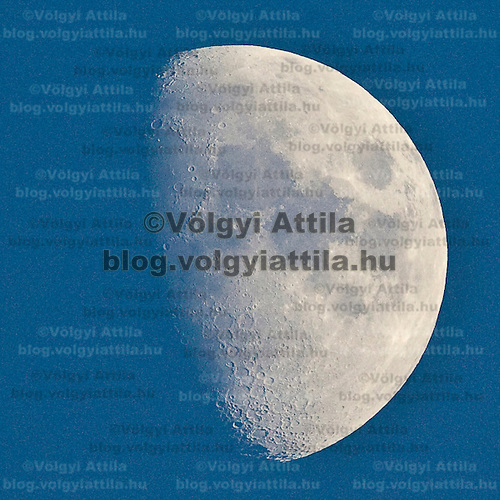 Moon shines on the sky during the late afternoon swimming competitions of the 13th FINA Swimming World Championships held in Rome, Italy. Thursday, 30. July 2009. ATTILA VOLGYI