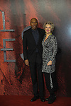 Colin Salmon and Fiona Hawthorn  at  the World Premiere of Mortal Engines, Leicester Square, London