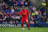 Andre Wisdom of Liverpool looks for options during the 2016/17 Pre Season Friendly match between Tranmere Rovers and Liverpool at Prenton Park, Birkenhead, England on 8 July 2016. Photo by PRiME Media Images.