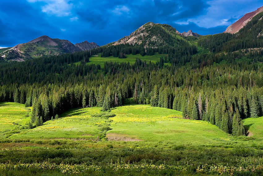 Landscape on Gothic Road, near Crested Butte, Colorado USA