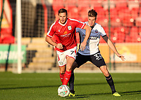 Bolton Wanderers' Reece Burke competing with Crewe Alexandra's Chris Porter <br /> <br /> Photographer Andrew Kearns/CameraSport<br /> <br /> The Carabao Cup - Crewe Alexandra v Bolton Wanderers - Wednesday 9th August 2017 - Alexandra Stadium - Crewe<br />  <br /> World Copyright &copy; 2017 CameraSport. All rights reserved. 43 Linden Ave. Countesthorpe. Leicester. England. LE8 5PG - Tel: +44 (0) 116 277 4147 - admin@camerasport.com - www.camerasport.com