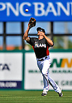13 March 2012: Miami Marlins outfielder Kevin Mattison in action during a Spring Training game against the Atlanta Braves at Roger Dean Stadium in Jupiter, Florida. The two teams battled to a 2-2 tie playing 10 innings of Grapefruit League action. Mandatory Credit: Ed Wolfstein Photo