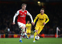 Rob Holding of Arsenal in action during Arsenal vs Standard Liege, UEFA Europa League Football at the Emirates Stadium on 3rd October 2019