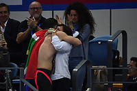 van der BURGH Cameron RSA Gold Medal celebrates with his family <br /> Men's 50m Breaststroke <br /> Hangh Zhou 16/12/2018 <br /> Hang Zhou Olympic & International Expo Center <br /> 14th Fina World Swimming Championships 25m <br /> Photo Andrea Staccioli/ Deepbluemedia /Insidefoto
