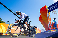Commonwealth Games - Road Cycling: Time Trial - Currumbin Beachfront, Gold Coast, Australia - James Oram of New Zealand competes in the Men's Individual Time Trial. 10 April 2018. Picture by Alex Whitehead / www.photosport.nz /SWpix.com /SWpix.com