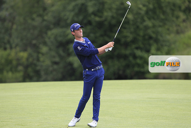 Renato Paratore (ITA) on the 1st fairway during Round 2 of the HNA Open De France  at The Golf National on Friday 30th June 2017.<br /> Photo: Golffile / Thos Caffrey.<br /> <br /> All photo usage must carry mandatory copyright credit      (&copy; Golffile   Thos Caffrey)