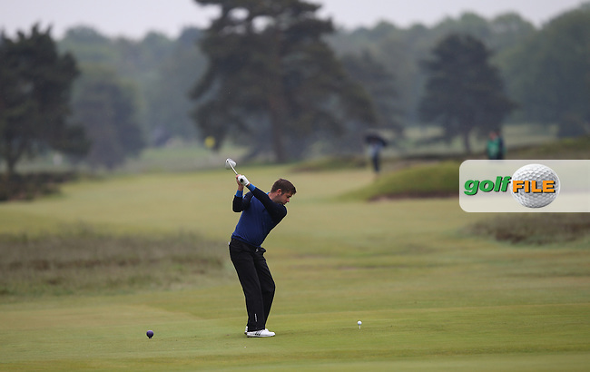 Robert Rock (ENG) aims for the pin during the USGA US Open Championship International Sectional Qualifier from Walton Heath Golf Club, Surrey, UK. Picture:  David Lloyd / www.golffile.ie