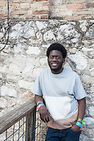 Editorial photoshoot with Michael Kiwanuka at SXSW, Austin, Texas, USA, March 2012
