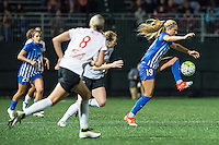 Allston, MA - Saturday Sept. 24, 2016: Samantha Mewis, Kristie Mewis during a regular season National Women's Soccer League (NWSL) match between the Boston Breakers and the Western New York Flash at Jordan Field.