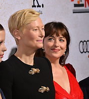 LOS ANGELES, CA. October 24, 2018: Mia Goth, Tilda Swinton &amp; Dakota Johnson at the Los Angeles premiere for &quot;Suspiria&quot; at the Cinerama Dome.<br /> Picture: Paul Smith/Featureflash