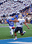 October 1, 2016 - Colorado Springs, Colorado, U.S. -  A blocked punt breaks open the first half scoring for Air Force during the NCAA Football game between the Naval Academy Midshipmen and the Air Force Academy Falcons, Falcon Stadium, U.S. Air Force Academy, Colorado Springs, Colorado.  Air Force defeats Navy 28-14 to remain undefeated.