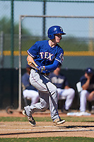 Texas Rangers Nick Kaye (8) during an instructional league game against the San Diego Padres on October 9, 2015 at the Surprise Stadium Training Complex in Surprise, Arizona.  (Mike Janes/Four Seam Images)