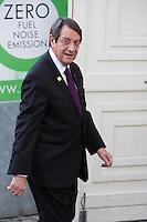 Nicos Anastasiades, Pr&eacute;sident de la R&eacute;publique de Chypre, lors du Sommet statutaire du Parti Populaire Europ&eacute;en (PPE), &agrave; Bruxelles.<br /> Belgique, Bruxelles, 15 d&eacute;cembre 2016<br />  Nicos Anastasiades ( President of Cyprus ) attends the  EPP ( European People&rsquo;s Party ) meeting in Brussels.<br /> Belgium, Brussels, 15 December 2016