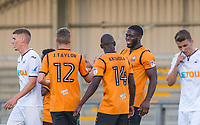 Goal scorer John Akinde of Barnet smiles after his winning goal during the 2017/18 Pre Season Friendly match between Barnet and Swansea City at The Hive, London, England on 12 July 2017. Photo by Andy Rowland.