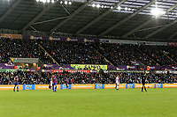 Low Cost Vans LED advertisement during the Premier League match between Swansea City and Crystal Palace at The Liberty Stadium, Swansea, Wales, UK. Saturday 23 December 2017