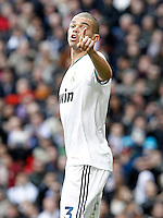 Real Madrid's Pepe during La Liga match.March 02,2013. (ALTERPHOTOS/Acero) /NortePhoto