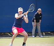 June 14th 2017, Nottingham,  England; WTA Aegon Nottingham Open Tennis Tournament day 5;  Julia Boserup of USA in action against Dona Vekic of Croatia