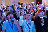 Guests cheer as United States President Donald J. Trump makes remarks at Turning Point USA's Teen Student Action Summit 2019 in Washington, DC on July 23, 2019. <br /> Credit: Chris Kleponis / Pool via CNP