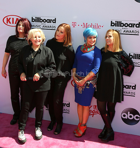 LAS VEGAS, NV - MAY 22:  Belinda Carlisle, Gina Schock, Abby Travis, Charlotte Caffey, Jane Wiedlin attends the 2016 Billboard Music Awards at T-Mobile Arena on May 22, 2016 in Las Vegas, Nevada. Credit: Parisa/MediaPunch.