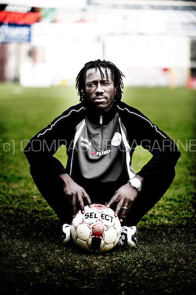 Senegalese football player Mbaye Leye (Belgium, 19/02/2013)