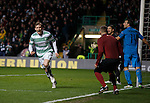 Stuart Armstrong celebrates his second goal